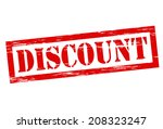 stamp with word discount inside ... | Shutterstock .eps vector #208323247