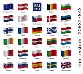 set od european union country... | Shutterstock .eps vector #208327843