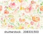 abstract watercolor floral... | Shutterstock . vector #208331503