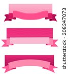 pink breast cancer awareness... | Shutterstock . vector #208347073