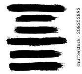 vector set of grunge brush... | Shutterstock .eps vector #208352893