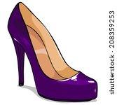Vector Cartoon Purple Femelle...