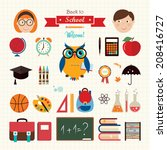 back to school elements a set... | Shutterstock .eps vector #208416727