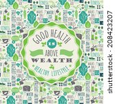 healthy lifestyle background  | Shutterstock .eps vector #208423207