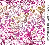 floral seamless vector... | Shutterstock .eps vector #208493737