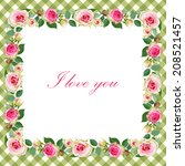 floral background with vintage... | Shutterstock .eps vector #208521457