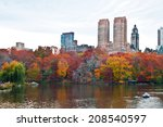 cloudy autumn day at the lake... | Shutterstock . vector #208540597