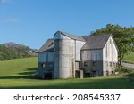 Old Farm House And Grain Silo...