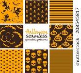 set of dark brown and orange...