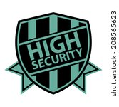 blue high security vintage... | Shutterstock . vector #208565623