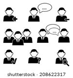 business communication and... | Shutterstock .eps vector #208622317