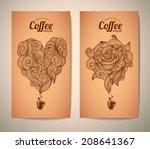set of coffee concept design | Shutterstock .eps vector #208641367