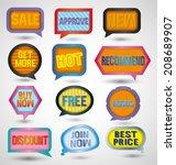vector illustration of speech... | Shutterstock .eps vector #208689907