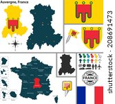 administrative,areas,atlas,auvergne,borders,button,clermont-ferrand,country,divisions,europe,flag,france,french,icon,map