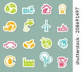 eco icons set vector | Shutterstock .eps vector #208691497