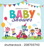 baby shower | Shutterstock .eps vector #208703743