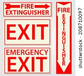 fire safety signs vector... | Shutterstock .eps vector #208710097