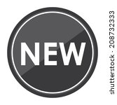 new sign on gray circle icon ... | Shutterstock . vector #208732333
