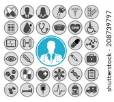 medical vector icon set | Shutterstock .eps vector #208739797
