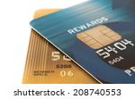 close up credit card | Shutterstock . vector #208740553