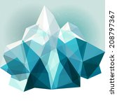ice geometric mountain blue... | Shutterstock .eps vector #208797367
