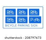 Set Of Six Bicycle Parking...