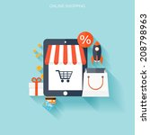 internet shopping concept. e... | Shutterstock .eps vector #208798963