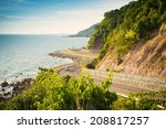 Landscape View Of Sea And Curv...