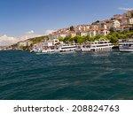 ferry boat in bosporus ... | Shutterstock . vector #208824763
