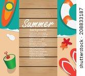 summer background  | Shutterstock .eps vector #208833187