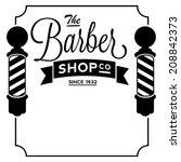 Barber Shop Border Vintage