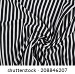 fragment of a striped wrinkled... | Shutterstock . vector #208846207