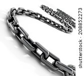 Chain Isolated On White...