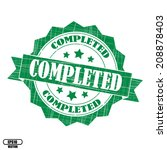 passed rubber stamp  stickers ... | Shutterstock .eps vector #208878403