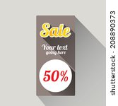 flat design sale discount or... | Shutterstock .eps vector #208890373