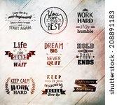inspirational and encouraging... | Shutterstock .eps vector #208891183