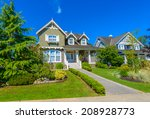 custom built luxury house with... | Shutterstock . vector #208928773
