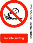 no kite surfing | Shutterstock .eps vector #208929463