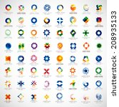 unusual icons set   isolated on ... | Shutterstock .eps vector #208935133