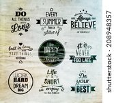 inspirational and encouraging... | Shutterstock .eps vector #208948357