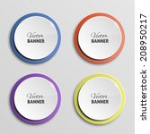 vector color banners | Shutterstock .eps vector #208950217