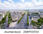 Paris. View Of City Streets At...