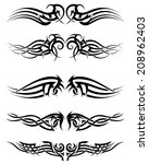 set tribal tattoos. eps 10... | Shutterstock .eps vector #208962403