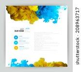 vector abstract cloud. ink... | Shutterstock .eps vector #208963717