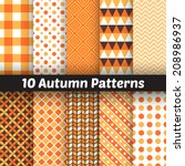 10 Autumn Vector Seamless...