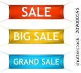 big  grand sale banners. vector. | Shutterstock .eps vector #209000593