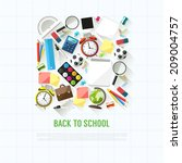 back to school flat style