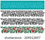 vector set of floral elements.... | Shutterstock .eps vector #209012857