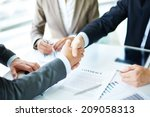 image of business partners... | Shutterstock . vector #209058313