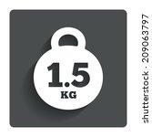 weight sign icon. 1.5 kilogram  ...